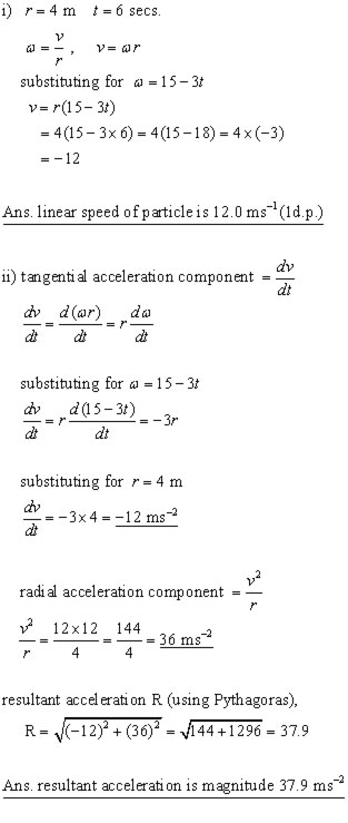 circle - non-uniform acceleration problem #01b