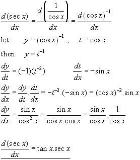 DERIVATIVE TRIGONOMETRICAL FUNCTIONS, differential calculus from A ...