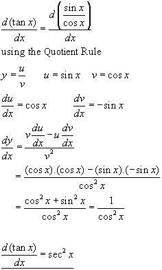 DERIVATIVE TRIGONOMETRICAL FUNCTIONS, differential ...