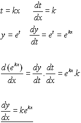 how to take derivative of e
