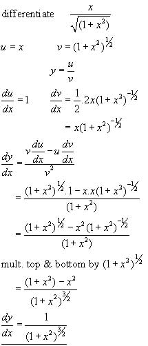 The Quotient Rule Differential Calculus From A Level
