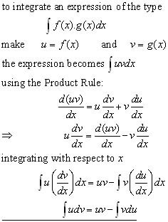 by parts equation derivation