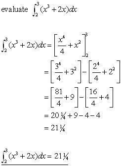 definite integrals integration from a level maths tutor