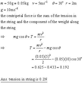 CIRCULAR MOTION,CONICAL PENDULUM,VERTICAL CIRCLE,kinetics ...