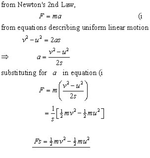 WORK & ENERGY,kinetics,mechanics revision notes from A-level