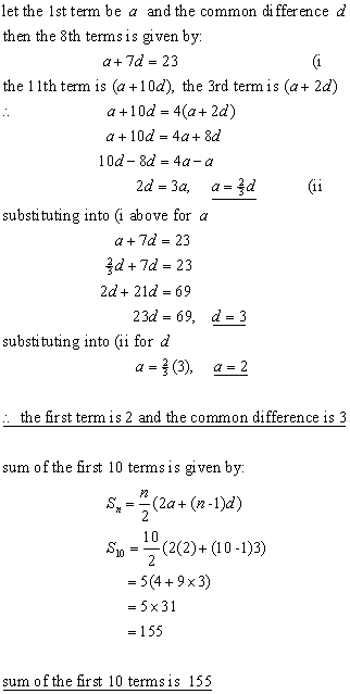 ARITHMETIC PROGRESSIONS,sequences & series from A-level Maths Tutor