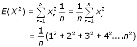 expected value of x squared