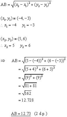 Distance Between 2 Points Problem1
