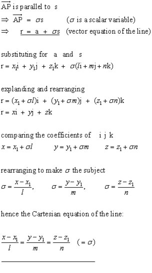 vector equations #1